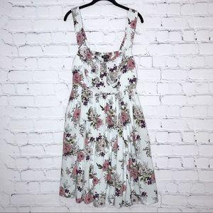 Torrid Blue Challis Skater Dress Floral Pockets